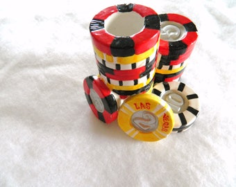 poker chips vegas candle holder cool