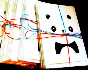 Brand new, blank PANDA BEAR note cards - Set of 6 individually wrapped with envelopes included