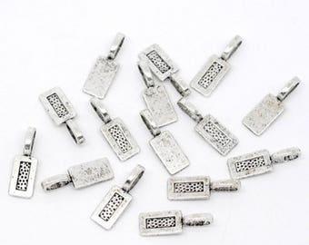 Pendant loops, pendant, pendant, pads, silver silberfarben26x8mm,