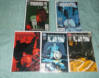 dc comics -gordon's law-lot of 5-1990-GD