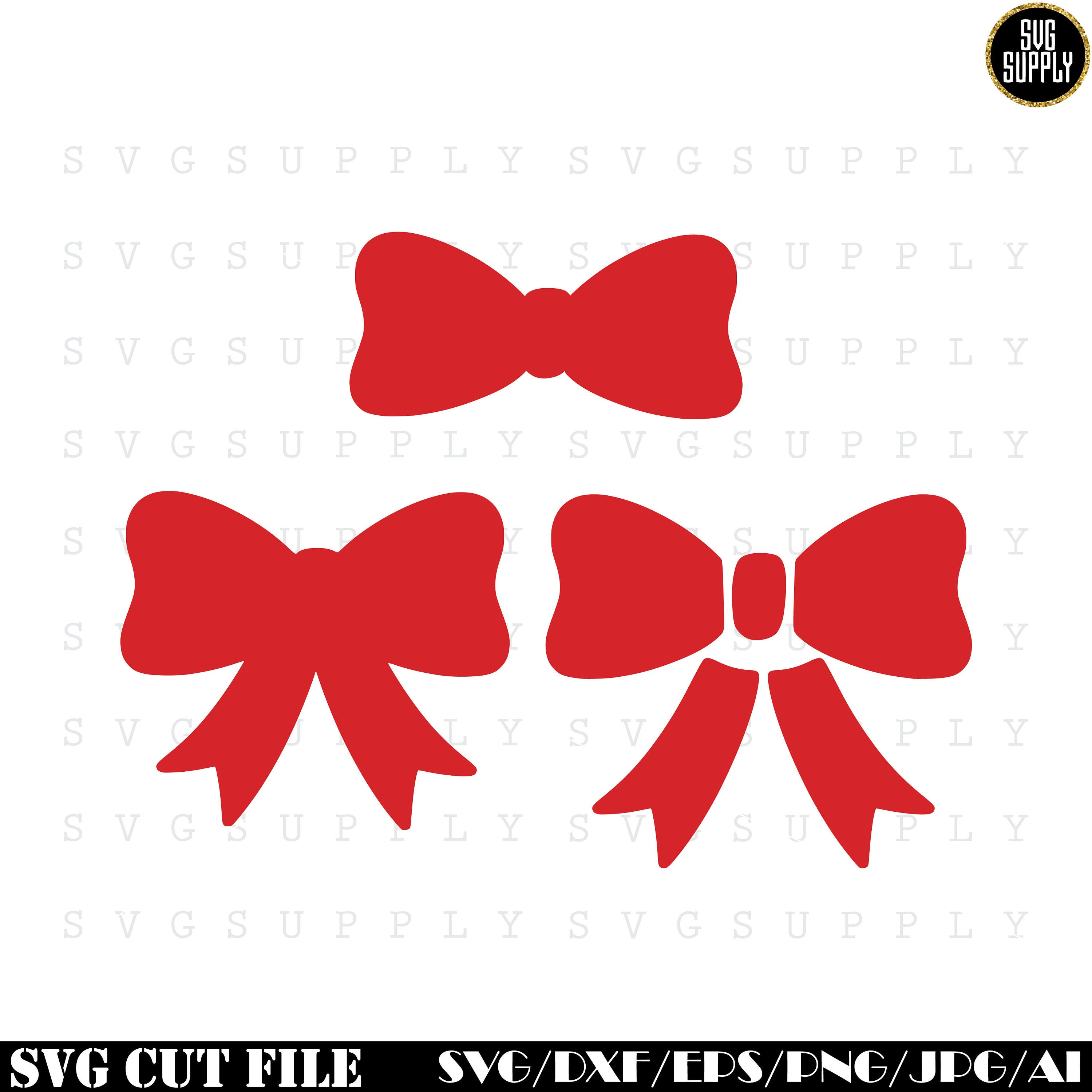 Download Bow SVG Ribbon SVG cut file vinyl decal for silhouette cameo