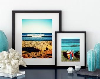 Perfect Wave, Western Australia. Surfing beach print, Retro surf art