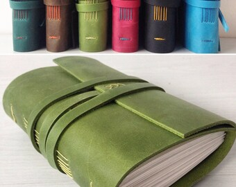 Personalized leather journal, leather notebook, leatherbound journal, travel notebook, birthday gift, mother's day gift,travel gift, A6
