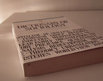 Vintage 1980's DICTIONARY OF SOCIOLOGY