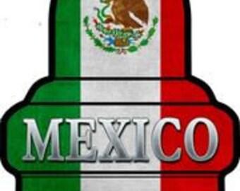 Mexico Flag Spark Plug metal sign