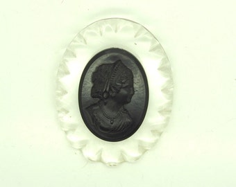 Large cameo brooch cameo brooch cameo jewellery cameo jewelry brooch pin black  cameos vintage woman gift