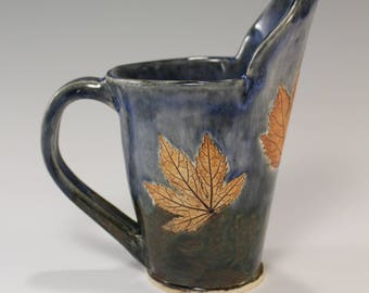 Small Fall Leaf Pitcher Creamer or Sauce Pitcher, Fall decor gravy pitcher