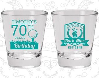 70th Birthday Shot Glass, Golf Birthday Shot Glass, Sports Birthday Shot Glass, Birthday Shot Glass, Birthday Glass (20277)