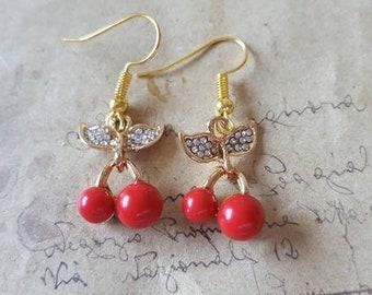 Czechoslovak-Earrings ~ Gold Colors ~