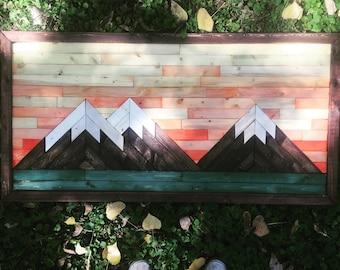 Sunset Mountain piece