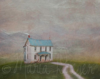 Home Art. Fine Art Photographic Print on Canvas. Whimsical Scenic Wall Art. Farmhouse Decor. Home or Office Decor.
