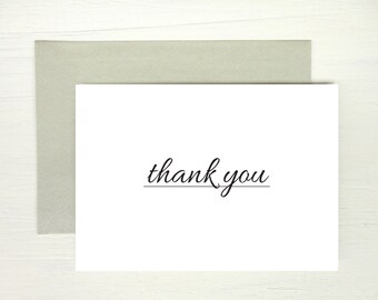 Printable thank you card instant download minimalist greeting card diy thank you card