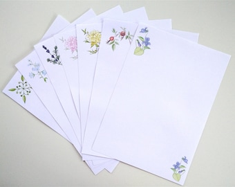 Writing Paper Pack, 20 Sheets of Beautiful Floral Paper; Mixed Floral Designs 28 Sheet Pack