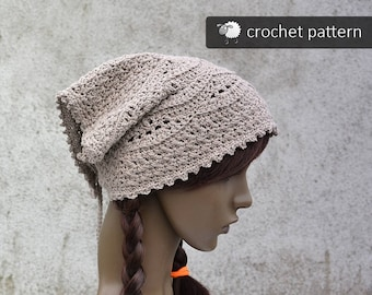 Kerchiefs etsy crochet pattern hippie boho bandana head kerchief pdf file sizes dt1010fo