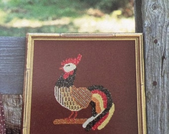 APRILSALE Vintage Just Us Chickens by Joan Green and Karen Nordhausen counted cross stitch booklet