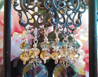 Renaissance Masquerade Party Fantasy Inspired Earrings