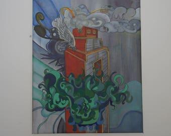 Robot Acrylic Painting