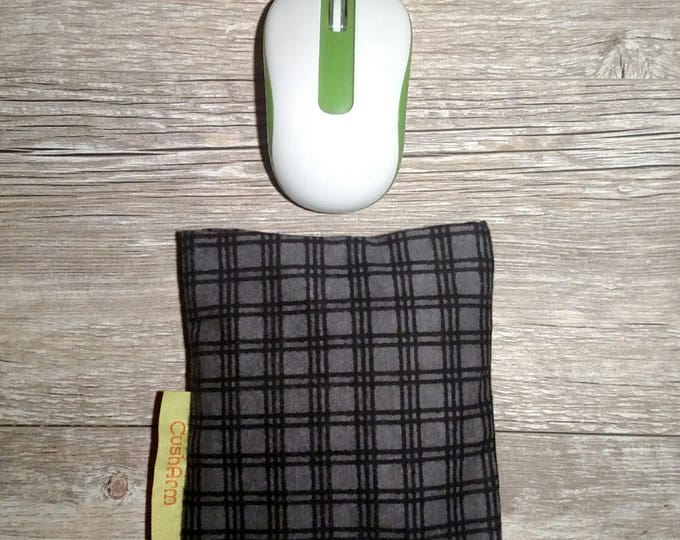 Black and Grey Check Computer Desk Wrist Support, Relaxing, Supportive