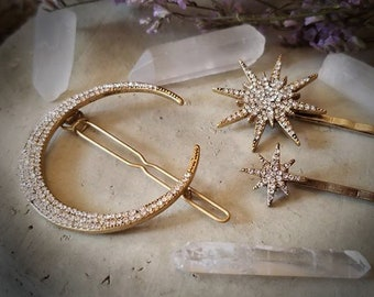 Vintage Style Celestial Hair Adornments