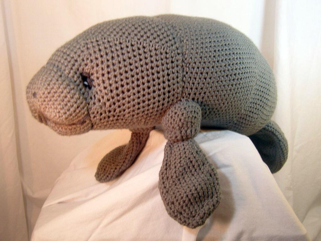 Manatee Amigurumi Stuffed Toy Plush Crochet Pattern