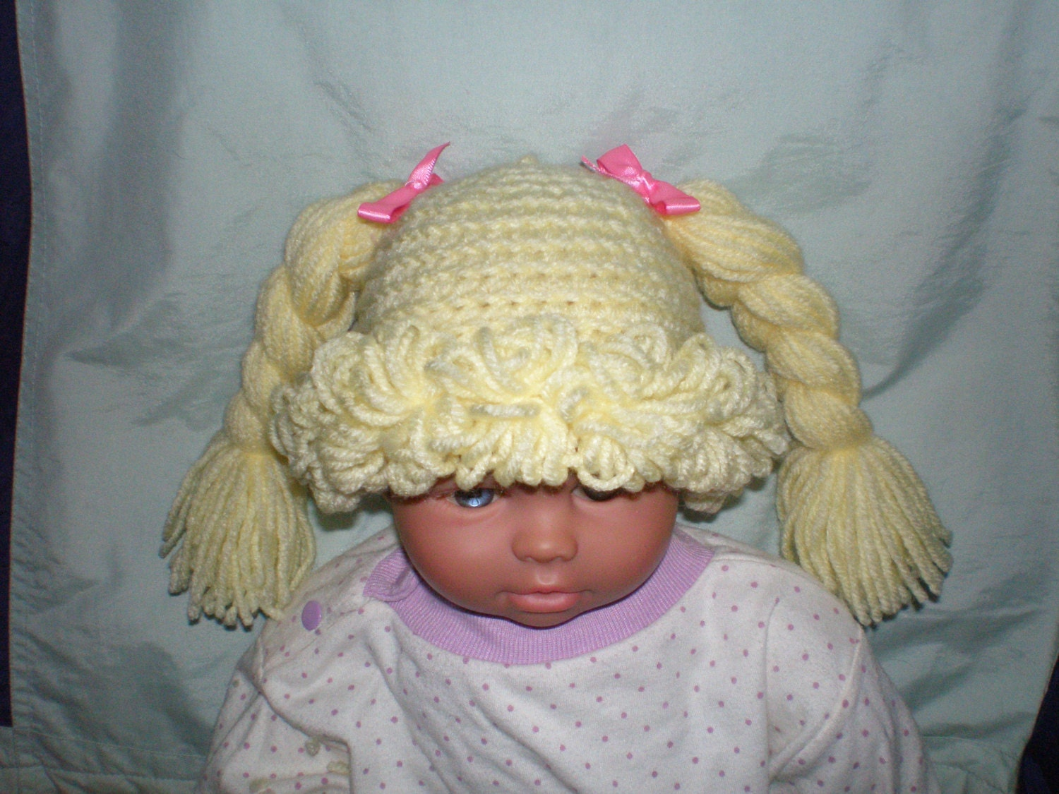 Cabbage Patch Hat / Wig Any Size Newborn to Adult Crochet