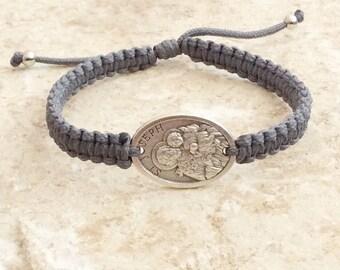 St.Joseph bracelet, Christian Bracelet, Catholic Gift, Saint Joseph, Christian man and women gift, Saint Bracelet, Catholic bracelet