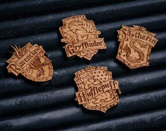Hogwarts House Badges - Harry Potter inspired