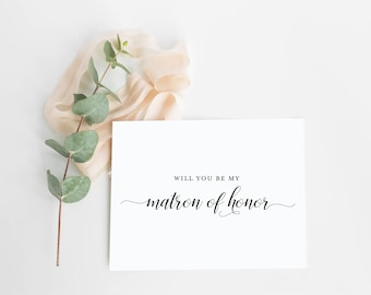 Will You Be My Matron Of Honor Card- Asking Maid of Honor- Ask To Be In Party- Will You Be My Maid of Honor Card Set- Bridesmaid Proposal
