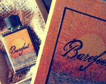 Barefoot - Natural Perfume Oil - Organic Jasmine, Champaca, Orange Blossom, Hay Absolute, Cassie, Cedar Wood, Beeswax, Bergamot, Chamomile