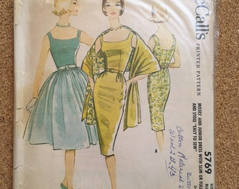 Vintage 1950's dress and stole sewing pattern McCall's 5769 pitch12