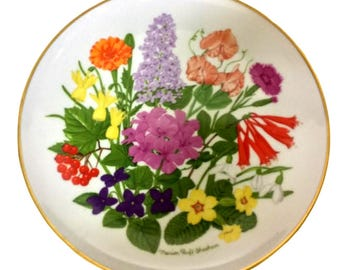 Easter Floral Plate Flowers of Mt Vernon Gift For Her Hostess Or Easter Gift