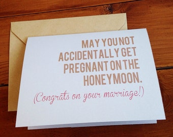 Funny Wedding Congratulations Card / Humor Engagement / Unique Wedding Card / Cheeky Congratulations Card