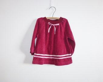 Vintage Velour Baby Dress