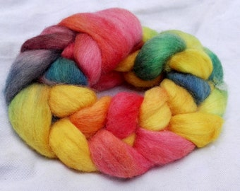 Shepherd's Delight - Hand Dyed 100% Wool Roving. Perfect for Spinning or Felting. *MADE TO ORDER*