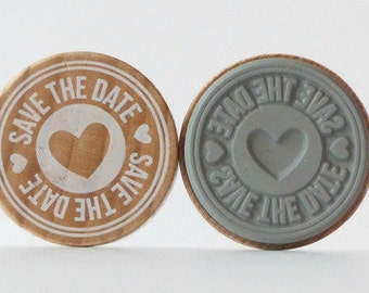 Stamp about SAVE THE DATE heart