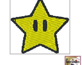 Embroidery file format: mario star