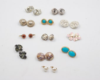 Clip On Earrings Jewelry Drawer Lot Vintage