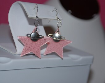 Saturn's Stars Earrings -Great Holiday Gift-