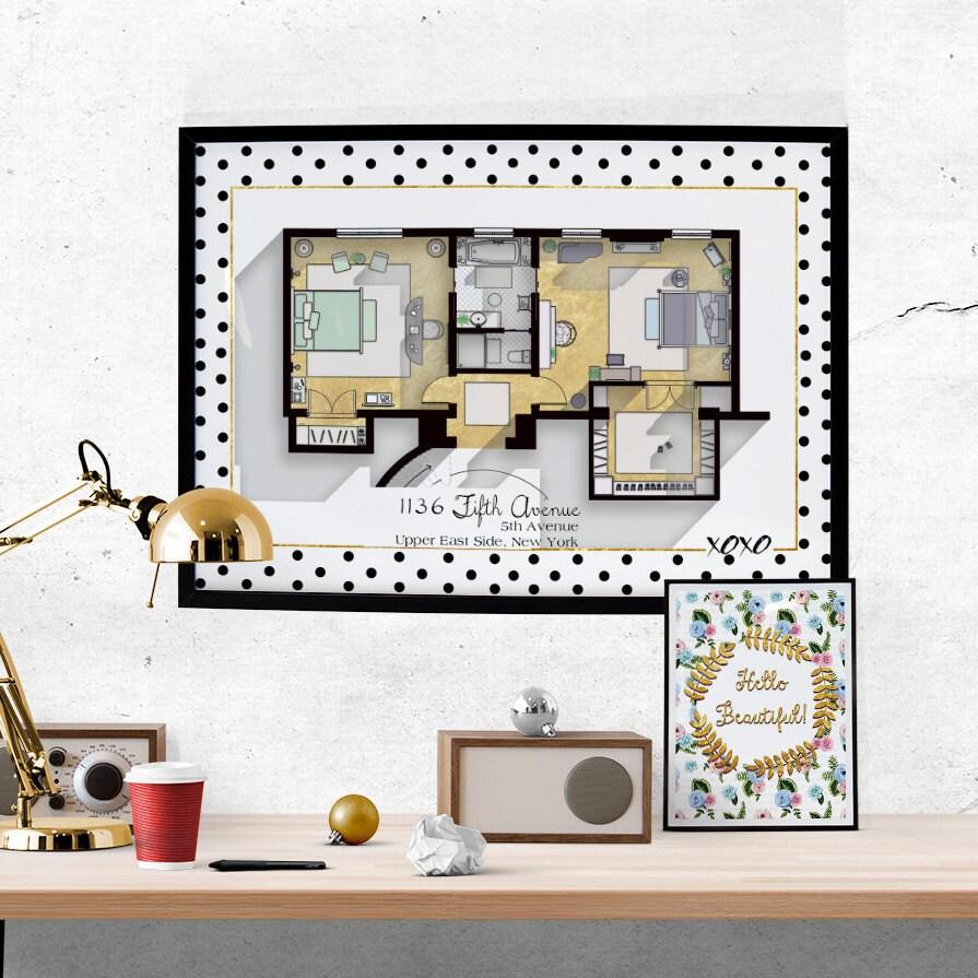 Gossip Apartment Floor Plan TV Show Floor Plan Blair on glamour bedroom, red bedroom, style bedroom, olivia palermo bedroom, celebrity bedroom, love bedroom, sayings for your bedroom,