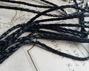 Black Necklaces, Leather Necklaces, Plaited Necklaces, Braided Necklaces, Black Cord, 18 Necklaces, Wax Cord, Necklace Supplies,