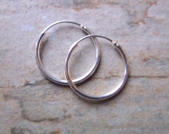 16mm Sterling Silver Hoop Earrings