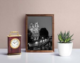 Notredame de paris ,  Paris, Wall Art, Paris print, French decor, Instant Download, Digital wall art, Digital print, wall decor, Paris decor
