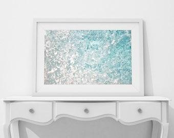 Nautical Decor Blue Abstract Art Print, Ocean Print, Teal Decor, Large Wall Art Prints, Coastal, Printable Wall Art, Digital Download