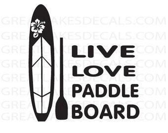 Paddle Board Vinyl Decal Sticker