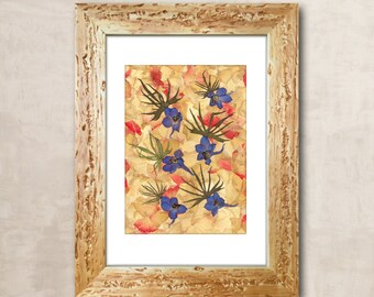 Pressed Flower Art Pressed Flowers Dried Flowers Dried Flower Dried Flower Art Herbarium Pressed Flower Frame Wall Art Home Decor Wall Decor