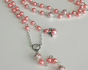Personalized Rosary Gift For First Communion gift Baptism Rosary Confirmation Gift Baptism Rosary First Communion Rosary, In the memory of