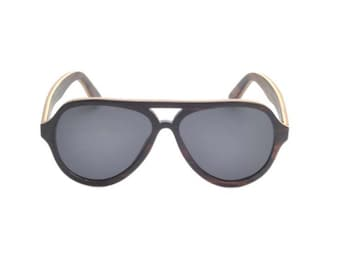 Driftwood Aviator Sunglasses