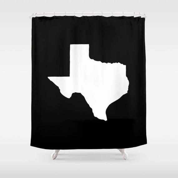 Texas Shower Curtain - Black & White Shower Curtain - Modern Shower Curtain - Shower Curtain - Texan Pride Shower Curtain - Texas Bath Decor
