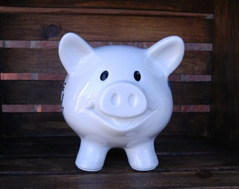 Handpainted Ceramic Piggy Bank