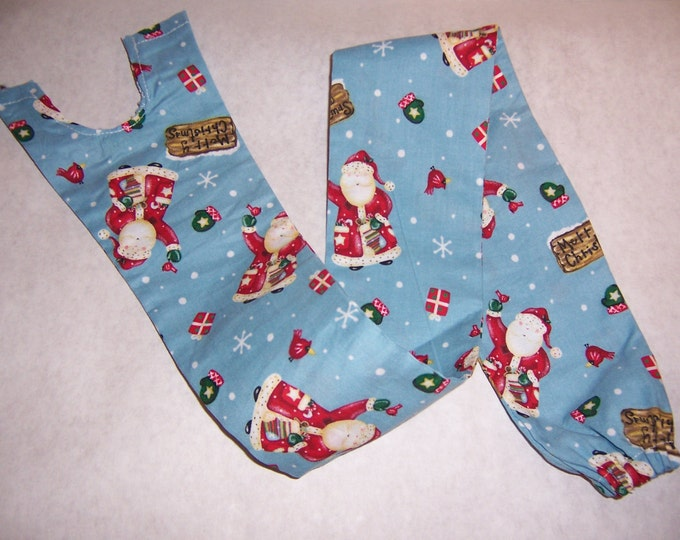 Santa Claus and snowflakes, fabric sethoscope cover